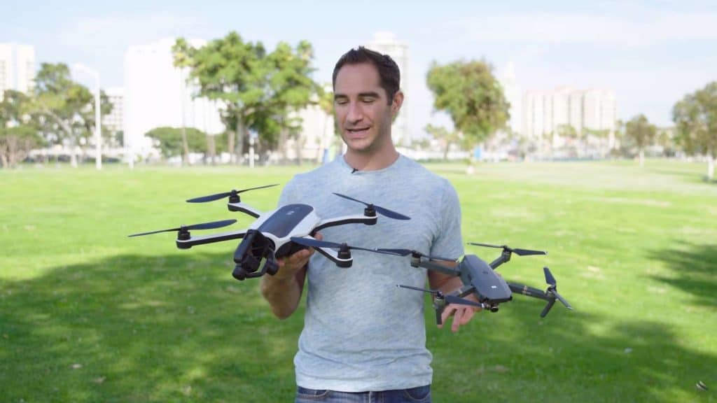 Brent Rose from WIRED comparing the DJI Mavic Pro with the GoPro Karma